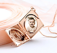 Fashion Watch Box Explosion Models Of Ancient Grain Square Necklace