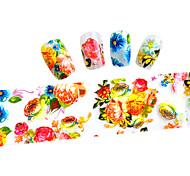 10pcs 100cmx4cm  Colorful Flower Glitter  Nail Foil Sticker  DIY Beauty  Nail Decorations  Sticker STZXK01-49