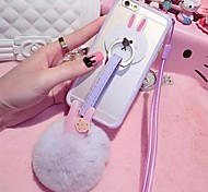 LADY®Rex Rabbit Fur Ball Soft Case for iphone 6 plus/6s plus(5.5 inch)