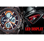ASJ Sport Multiple Digtal Display Date Day Alam Waterproof LCD Men's Wrist Quartz Watch Military Army Style