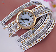 Ladies' Watch Fashion Set Auger Rivet Winding Three Times A Lady Wrist Watch