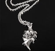 Flame Man Titanium Steel Necklace