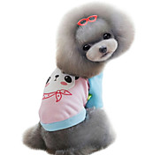 Dog Coat Red / Blue / Pink / Yellow Dog Clothes Winter Fashion