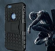 spider-man mela linee custodia morbida calcio copertura protettiva con cavalletto per 6S iphone / iphone 6 (colori assortiti)