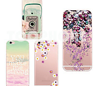 MAYCARI®Camera Soft Transparent TPU Back Case for iPhone 6/6S(Assorted Colors)