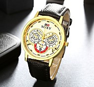 Stainless Steel Quartz Watch Men Leather Fashion Business Wrist Watch Cool Watch Unique Watch