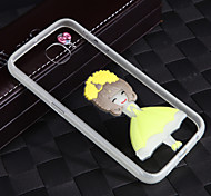 Lightning Glow in Dark With the Rope Cute Girl Acrylic Back+TPU Frame Back Cover for Samsung Galaxy S6