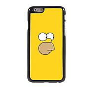 Yellow Cartoon Character Design Aluminum Hard Case for iPhone 6/6S
