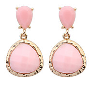 Women' New European Style Fashion Exaggerated Triangular Droplet Drop Earrings