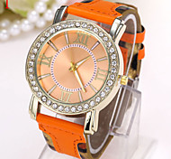 Ladies' Watch The New Fashion Leather Leopard Rome Digital Dial Watch