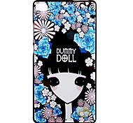 Back Cover Embossed Sexy Lady Silicone Soft Case Cover For Huawei Huawei P8