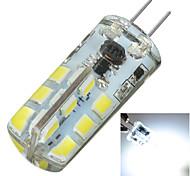 Marsing Luminárias de LED  Duplo-Pin Decorativa G4 3W 200-300 LM 6000K K Branco Frio 24 SMD 2835 1 pç DC 12 / AC 12 V Encaixe Embutido