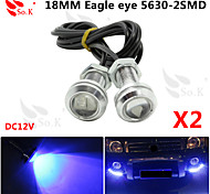 2X 23MM 9W blue LED Eagle Eye Daytime Running DRL Backup Light Fog Car Auto  12V