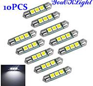 youoklight® festón 36mm 1W 60LM SMD 3x5050 60lm 6000-6500K luz blanca llevó la lámpara del bulbo coche (CC 12V / 10 piezas)