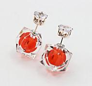 Earring Stud Earrings / Drop Earrings Jewelry Women Alloy / Platinum Plated / Gold Plated 1set Silver