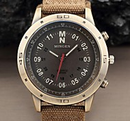 Hot Sale Military Army Style young people Fashion Large Dial Casual Khaki Fabric Band Sport Men Quartz Watch Cool Watch Unique Watch