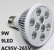 E26/E27 LED Aufzuchtlampen PAR30 9 High Power LED lm Rosa AC 100-240 V 1 Stück