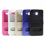 Pour Samsung Galaxy Coque Avec Support Avec Ouverture Clapet Magnétique Coque Coque Intégrale Coque Couleur Pleine Cuir PU pour Samsung