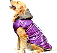 Dog Coat / Clothes/Clothing / Vest Red / Gray / Purple Spring/Fall Letter & Number Fashion / Keep Warm