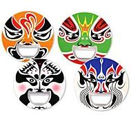 2 em 1 rosto Ópera de Pequim máscara de cerveja abridor de garrafas etiqueta original chinês