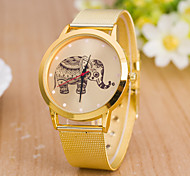 Women's European Style Golden Elephant Mesh Belt Fashion Wrist Watch