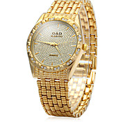 Diamond Quartz Watch for Fashionable Women's Stainless Steel Belt