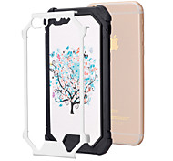 White Trees Pattern TPU Phone Bumper Case Drop Resistance for iPhone 6/6S