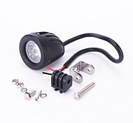 iztoss 10w CREE T6 de LED blanco 6500K de conducción del camino punto de trabajo ronda lámpara de luz para ATV del carro SUV coche