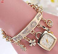 Ladies' Watch MS LOVE Diamond Alloy Watch Bracelet Watch Pendant Watch Cool Watches Unique Watches