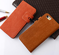 For iPhone 6 Case / iPhone 6 Plus Case Card Holder / with Stand Case Full Body Case Solid Color Hard Genuine LeatheriPhone 6s Plus/6 Plus