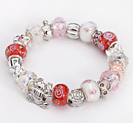 Fashion Jewelry Bracelets&brangle Glass European Beads bracelets for Women Gift Strand Beads bracelets BLH067