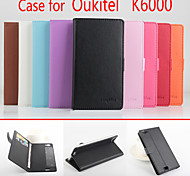 Flip Leather Magnetic Protective Case For Oukitel K6000(Assorted Colors)