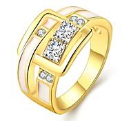 Ring Schmuck vergoldet Rose Gold überzogen 18K Gold Imitation Diamant Klassisch Gold Rose SchmuckHochzeit Party Halloween Alltag Normal