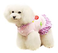 Cães Casacos Púrpura Verão Fashion