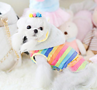 Dog Hoodie Yellow / Multicolored Dog Clothes Winter Stripe Fashion