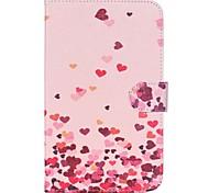 roze harten folio lederen stand beschermhoes met standaard voor Samsung Galaxy Tab 7.0 4 t230 T231 T235