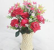 Шелк / Пластик Орхидеи / Розы Искусственные Цветы