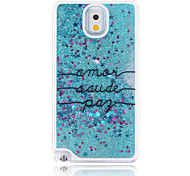 Letters Painted Quicksand PC Phone Case For Samsung Galaxy Note3/Note4/Note5 + A Touch Screen Pen