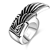 Wings Restoring Ancient Ways is Exaggerated Stainless Steel Men's Ring
