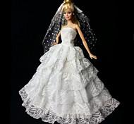 Matrimonio Abiti Per Barbie Doll Bianco Abiti
