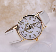 Lady's Anchor Case Leather Band Wrist Fashion Dress Watch Jewelry for Wedding Party Cool Watches Unique Watches
