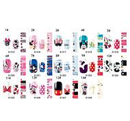 Nail Art Water Transfer Stickers Cute Full Cover DIY Nail Designs 2pcs