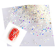 3D Nail Art 1440pcs/packs 1mm WhiteAB Micro Zircon Diamond 1.1/1.2/1.3/1.4/1.5/1.6mmRhinestones Decorations DIY  NC223
