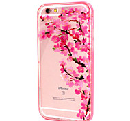Plum Flower Design LED Flicker Back Cover+Bumper Cover for IPhone 6/6S