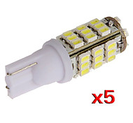 T10 W5W 501 5X 194 168 192 42 LED SMD Side Wedge Light Lamp Bulb(5 Pcs)