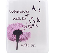 Dandelion Pattern TPU Soft Back Tablet Case for iPad 4/3/2