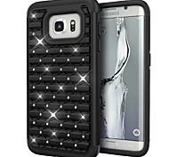 deji® защитник крышка случая Bling броня гибридная шпилька стразы двухслойные для Samsung Galaxy s7