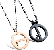 Loops Love Pendant Titanium Steel Couple Necklace Best Friends Necklaces