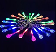 King Ro 20LED Xmas Crystal Water Drop Decorative String Light(KL0037-RGB,White,Warm White)