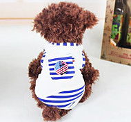 Dog Shirt / T-Shirt Red / Blue Dog Clothes Summer Fashion